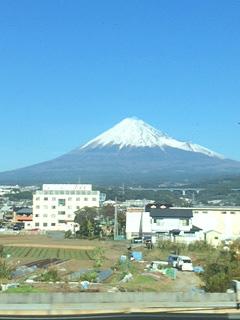 雪の富士山